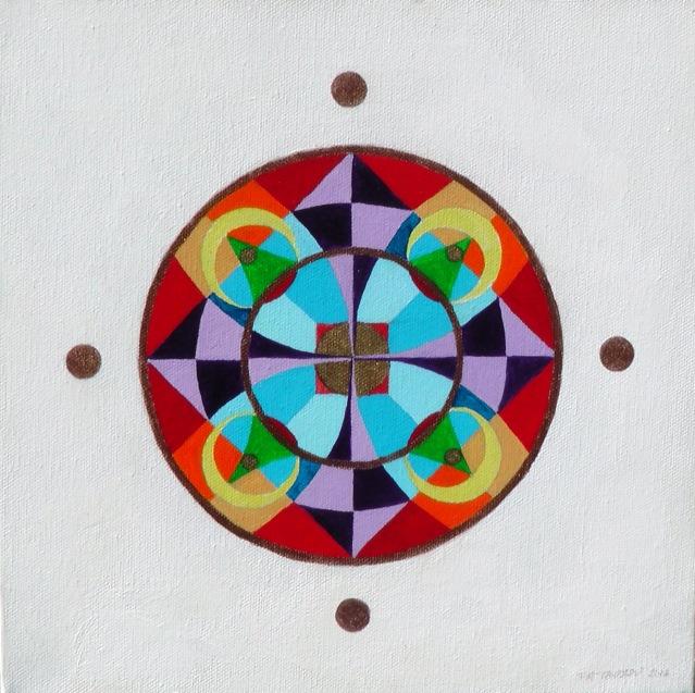 "Acrylic on canvas. 10"" x 10"" - July 2016"