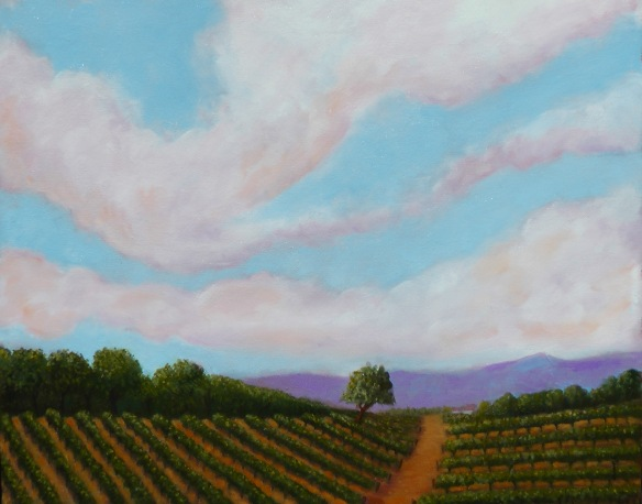 Vineyard Afternoon Oil on Canvas 16 x 20 $475