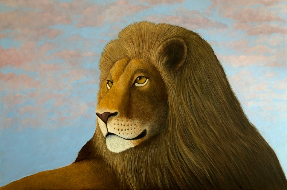 L is for Lion Oil on canvas 24 x  36 $3250