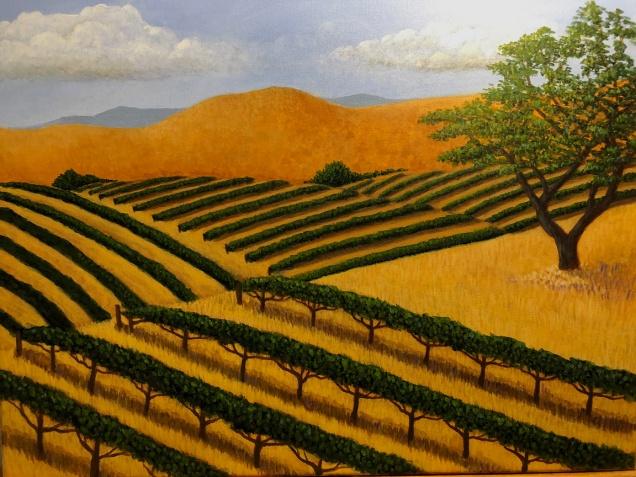 Vineyard Afternoon 2, Acrylic on canvas 16 x 20