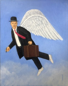 Angel Investor #2. Oil on canvas 6 x 8 Inches.